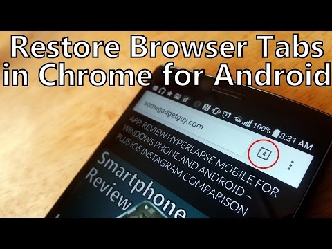 How To Restore Browser Tabs In Mobile Chrome For Android 5.0 Lollipop