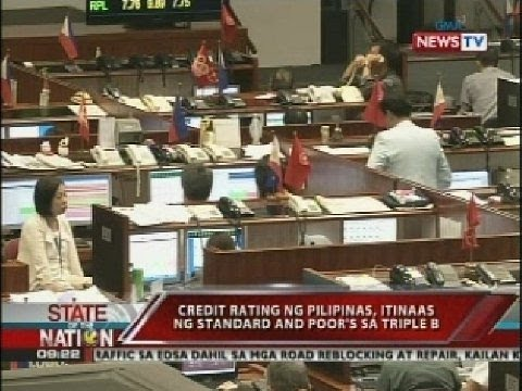 Credit rating ng Pilipinas, itinaas ng standard and poor's sa triple B