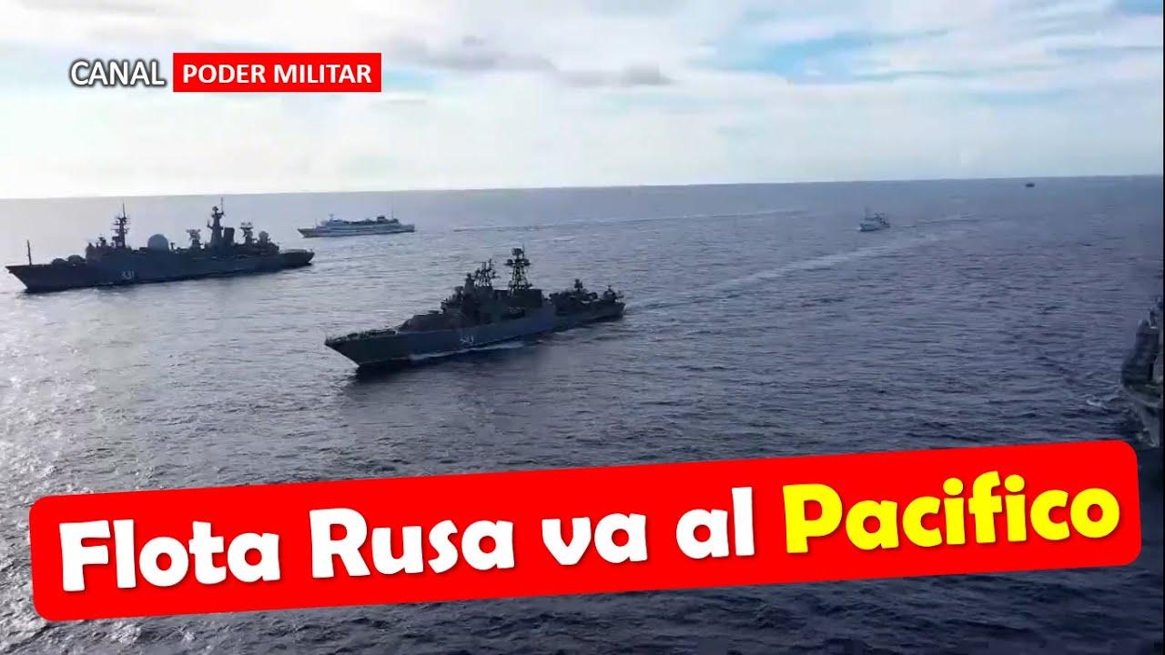 Rusia despliega una flota de 20 buques al pacifico