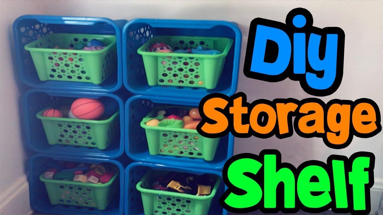 Merveilleux DIY Storage Shelf | Kids Toy Organizer | Dollar Tree
