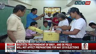 Postponement of barangay, SK polls won't affect 2019 elections: Bautista