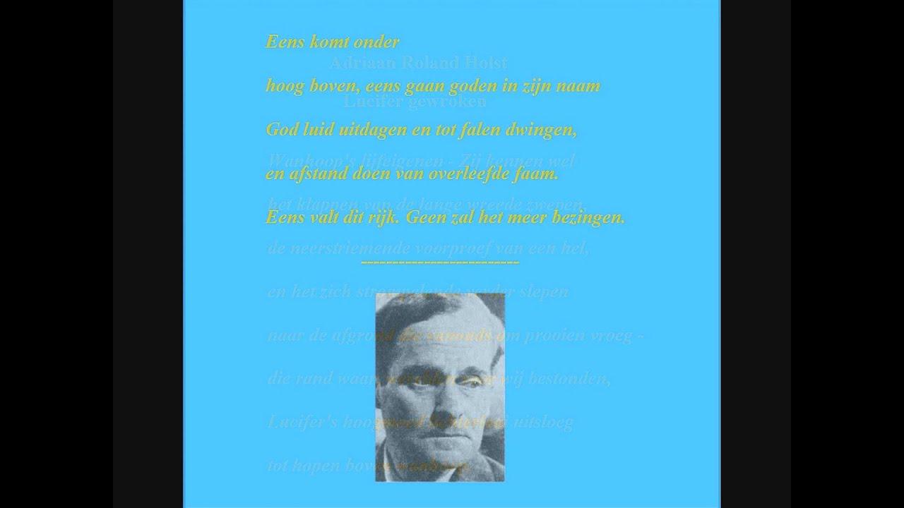 Adriaan Roland Holst 1888 1976 Gedicht Lucifer Gewroken