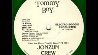"""Jonzun Crew: Electro Boogie Encouter (Promo 12"""" from Green Vinyl)"""