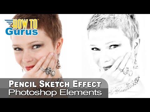 Photoshop Elements Pencil Sketch Portrait Effect From Photo