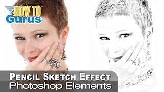 how to make a pencil sketch portrait from a photo adobe photoshop elements 15 14 13 12 11 tutorial
