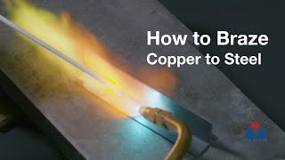 How to Braze Copper to Steel with 45% Silver Flux-Coated Brazing Rods