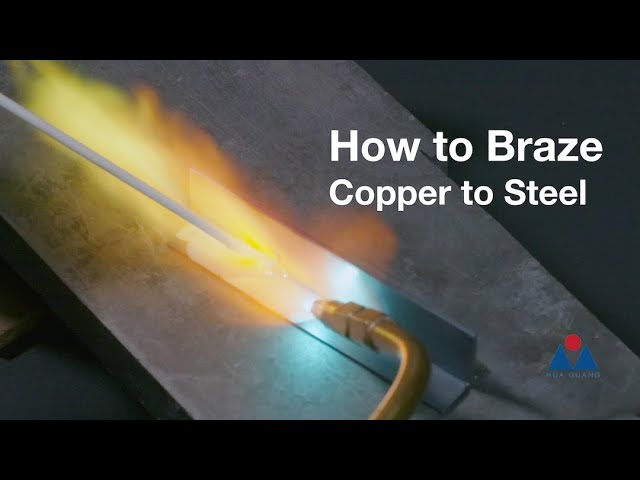 Brazing Copper to Steel with 45% Silver Flux-Coated Brazing Rods
