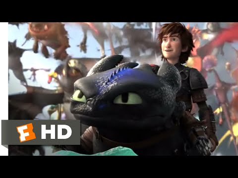 How to Train Your Dragon 2 - Toothless Fights Back Scene   Fandango Family thumbnail