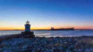 Portland Breakwater Light (Bug Light) at Sunrise