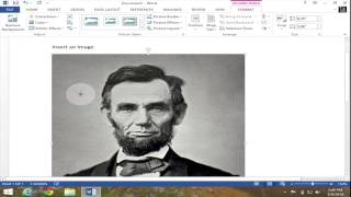 Insert a Picture Into Microsoft Word 2013