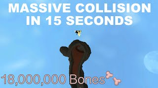 MASSIVE COLLISION Breaking 18 Millionen Knochen in 15 Sekunden [Level 408 Breaks] ROBLOX Broken Bones IV