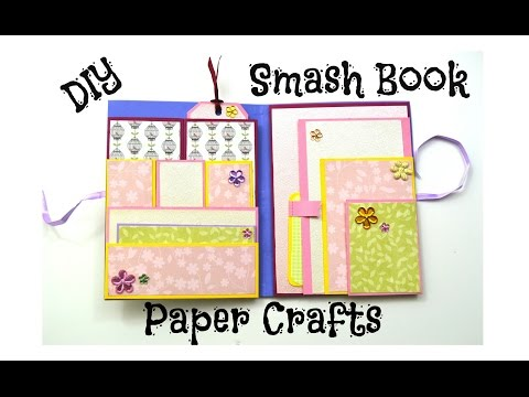 DIY Paper Crafts - Smashbook - How to make a Smash Book Slim - Birthday Gift Ideas - Giulia's Art