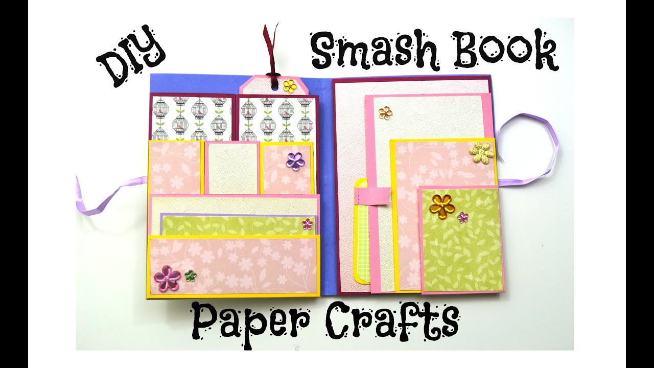 DIY Paper Crafts - How to make a Smash Book Slim - Birthday Gift ...
