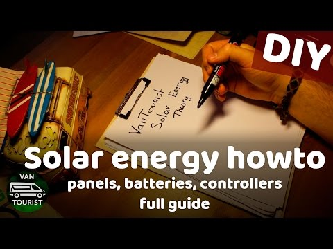 Solar energy theory. Panels, batteries, charging controllers