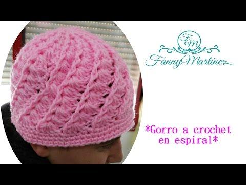 Cómo hacer un Gorro Espiral Fácil Tejido a Crochet! (adulto) en ...