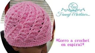Cómo hacer un Gorro Espiral Fácil Tejido a Crochet! (adulto) en espiral. 9b069b9e3ad
