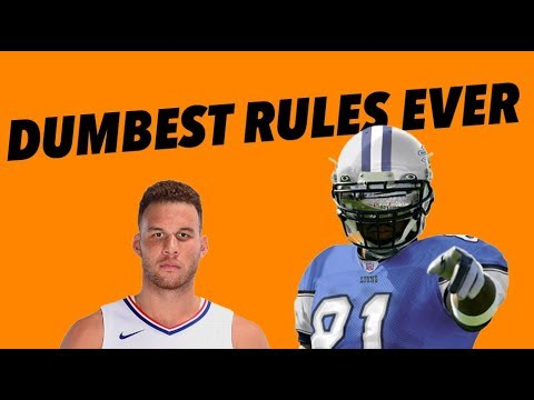 THE FIVE DUMBEST RULES IN SPORTS