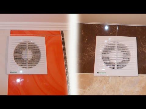 Установка вытяжного вентилятора в ванную или в туалет видео.