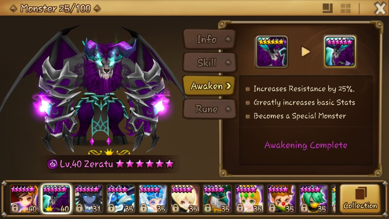 summoners war max monster slots