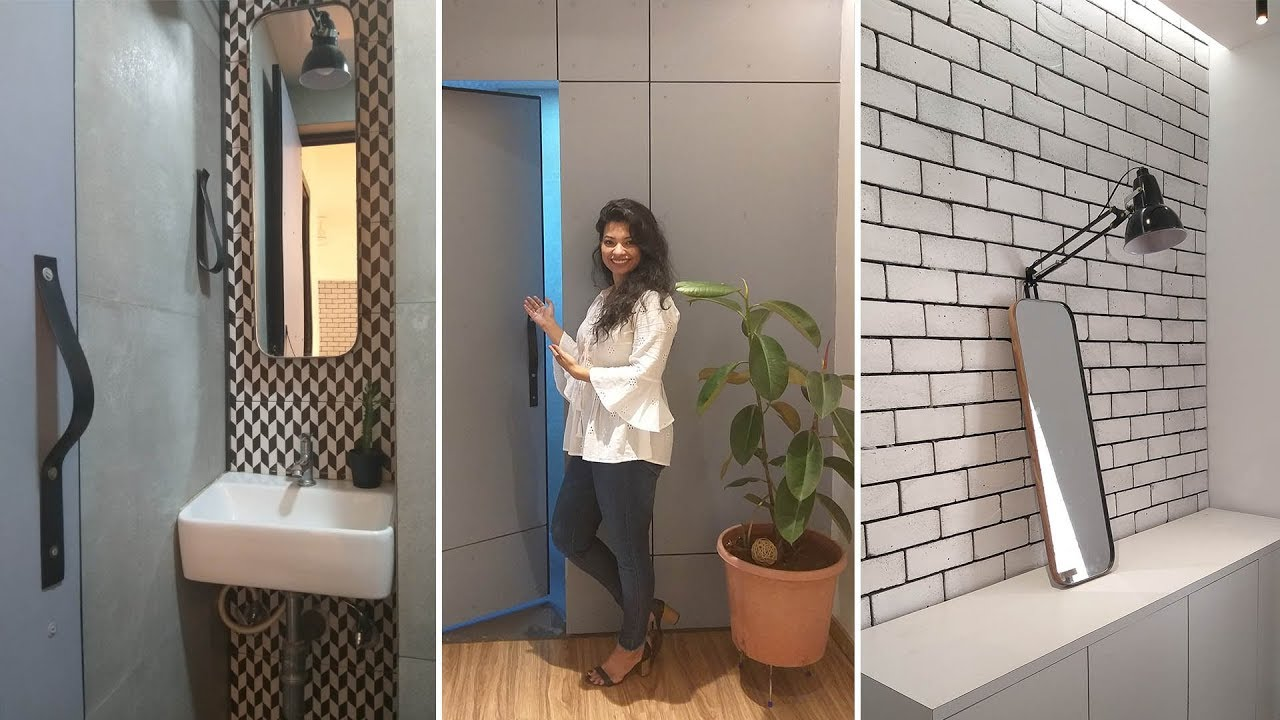 Office Toilet Reveal Tour L Small Toilet Design L Ask Iosis Hindi Interior Design India Youtube