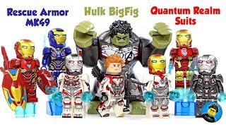 Iron Man MK50 War Machine MK6 Rescue Armor MK49 Avengers Endgame Set 13 Unofficial LEGO Minifigures