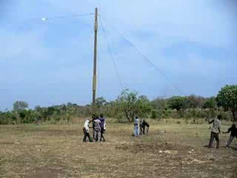 Raising a Radio Antenna in Africa