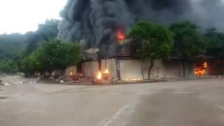 Cháy chợ cửa khẩu Tân Thanh, huyện Văn Lãng, Lạng Sơn