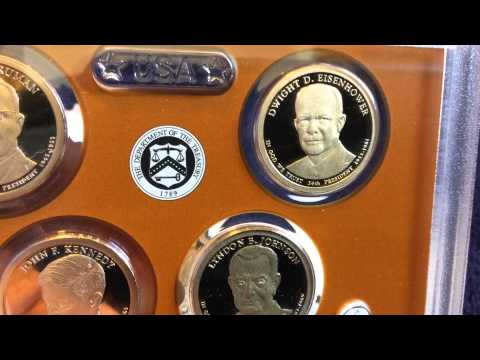 2015 Proof Silver Quarter And Presidential Dollar Set