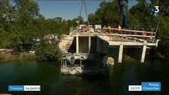 Cognac : le pont de Châtenay déconstruit bloc par bloc