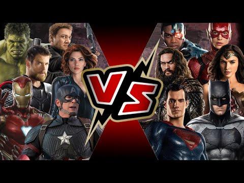 The Avengers VS Justice League   BATTLE ARENA   Marvel VS DC   MCU Vs DCEU