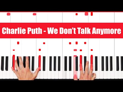 We Don't Talk Anymore Charlie Puth Piano Tutorial - VOCAL