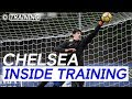 Flying Saves With Courtois & Training With All The Chelsea Goalkeepers | Inside Training