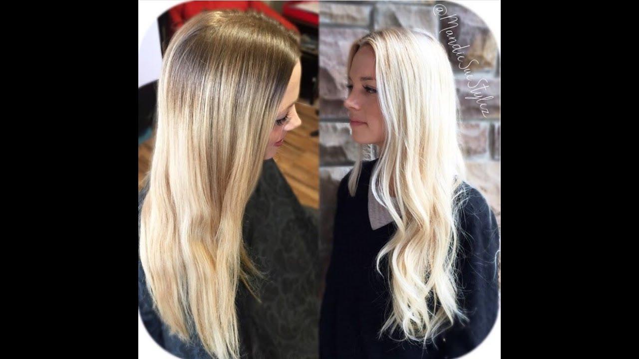 balayage en v blond