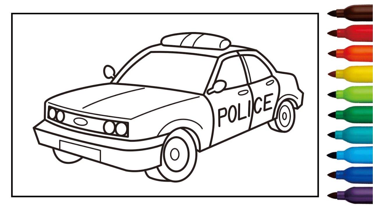 mewarnai gambar mobil polisi indonesia contoh gambar