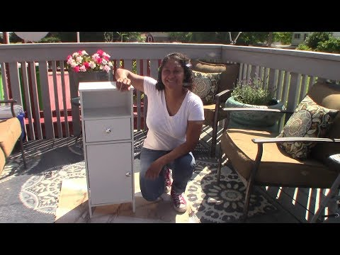 Be Thrifty! Thrift Store Bathroom Cabinet Makeover