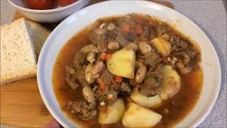 57.  Рагу из говядины с картофелем и фасолью.  Очень вкусное!