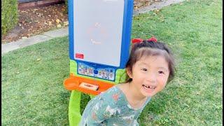 Kid FUN Learning: Vtech DiGiART Creative Easel Draw Shapes (Sophia LG age 4)