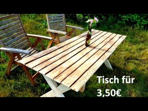 gartentisch aus paletten selbst bauen youtube. Black Bedroom Furniture Sets. Home Design Ideas