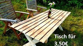 Gartentisch aus Paletten selbst bauen