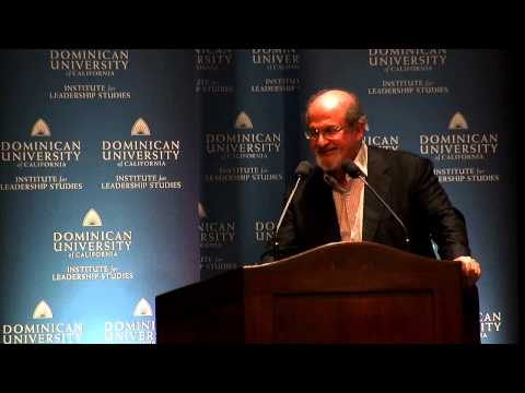 Salman Rushdie spoke at Dominican University:  Joseph Anton: