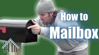 How to install a mailbox and post. Easy! Home Mender.