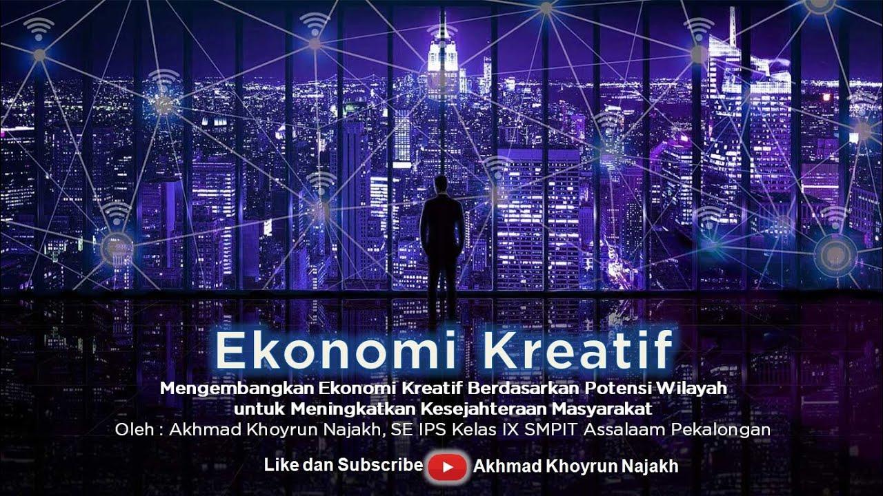 KBM Daring IPS Kelas 9 - Ekonomi Kreatif - YouTube