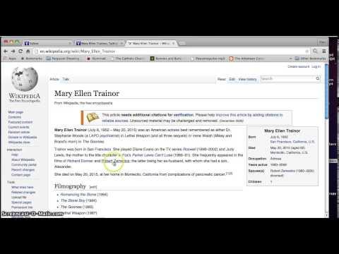 Mary Ellen Trainor Death age 62 born in 1952