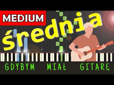 🎹 Gdybym miał gitarę - Piano Tutorial (średnia wersja) 🎹