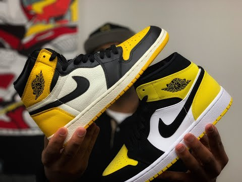 Air Jordan 1 Yellow Toe High Vs Mid Comparison Which Is Better