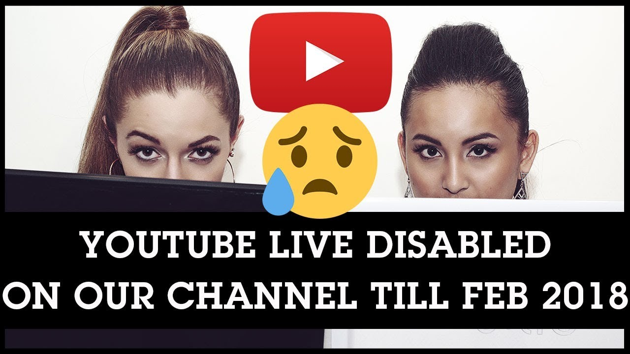 youtube live streaming revoked disabled on our channel