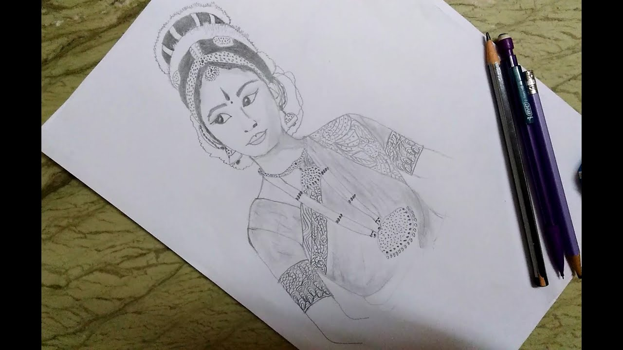 How To Draw A Classical Dancer Pencil Sketch For Beginners Step By Step Youtube