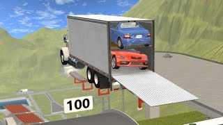 Beamng drive - Enclosed car Carrier Crashes