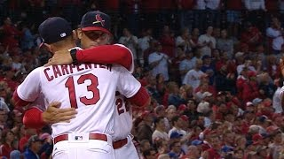 CHC@STL: Cardinals greeted warmly by home fans