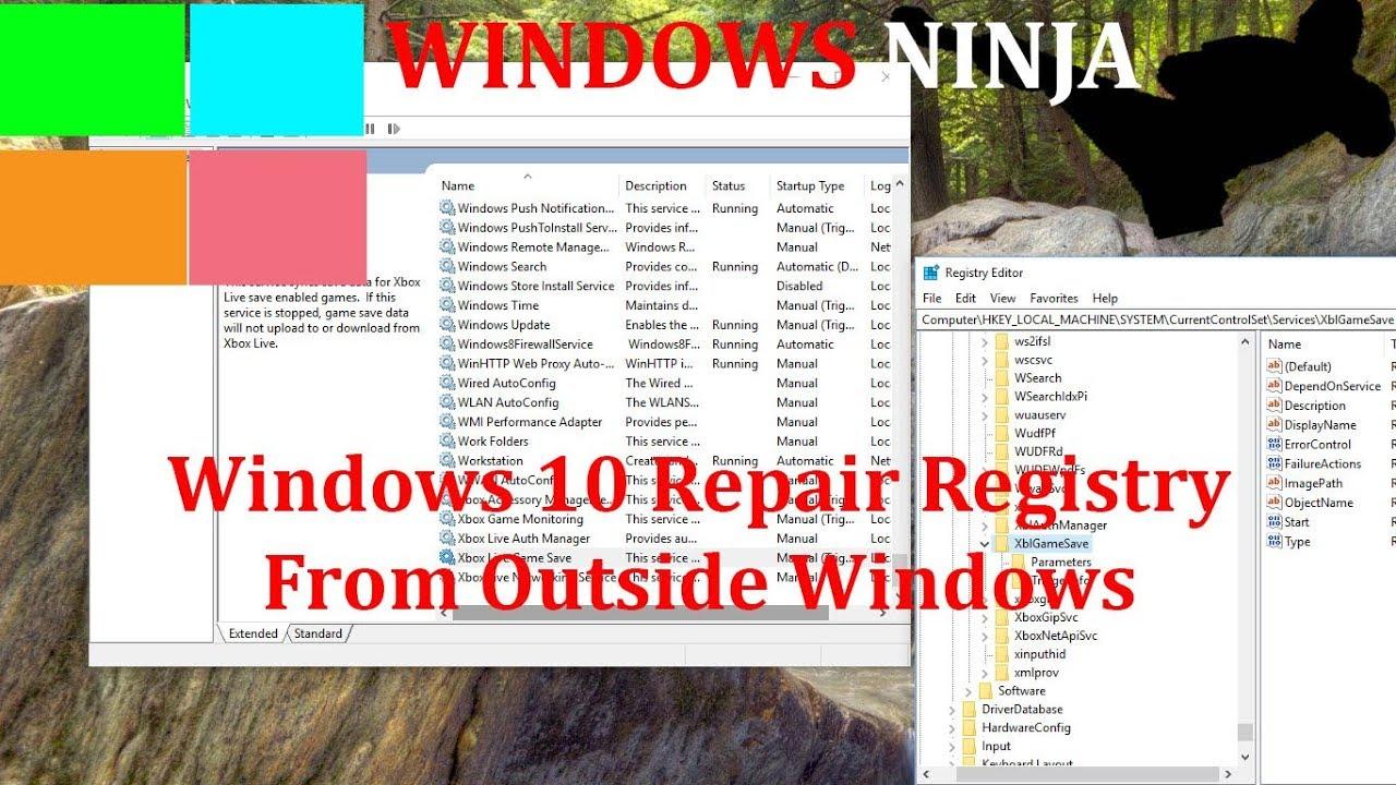 Windows 10 - Repair Registry From Outside Windows